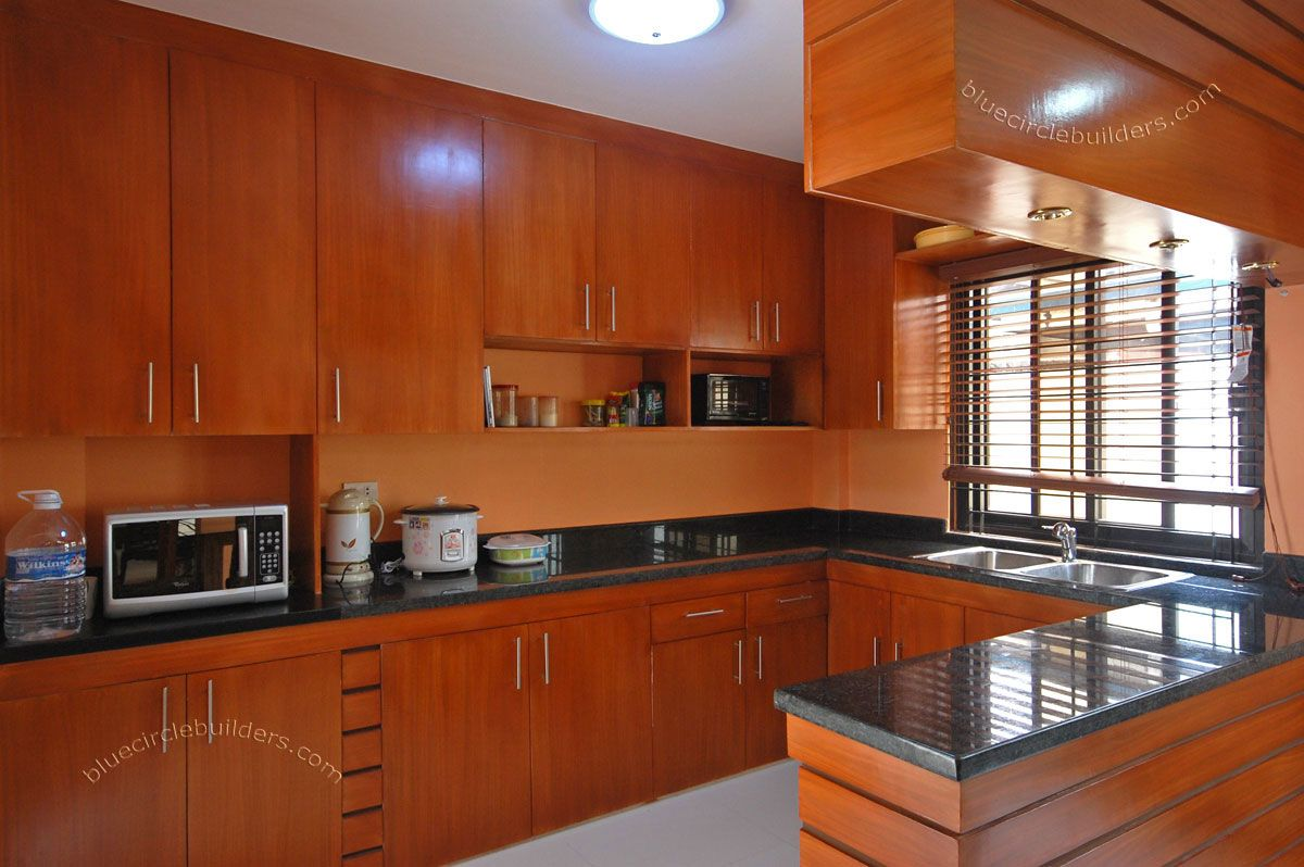 Home kitchen designs home kitchen cabinet design layout elegant finish las pinas paranaque Home design kitchen accessories