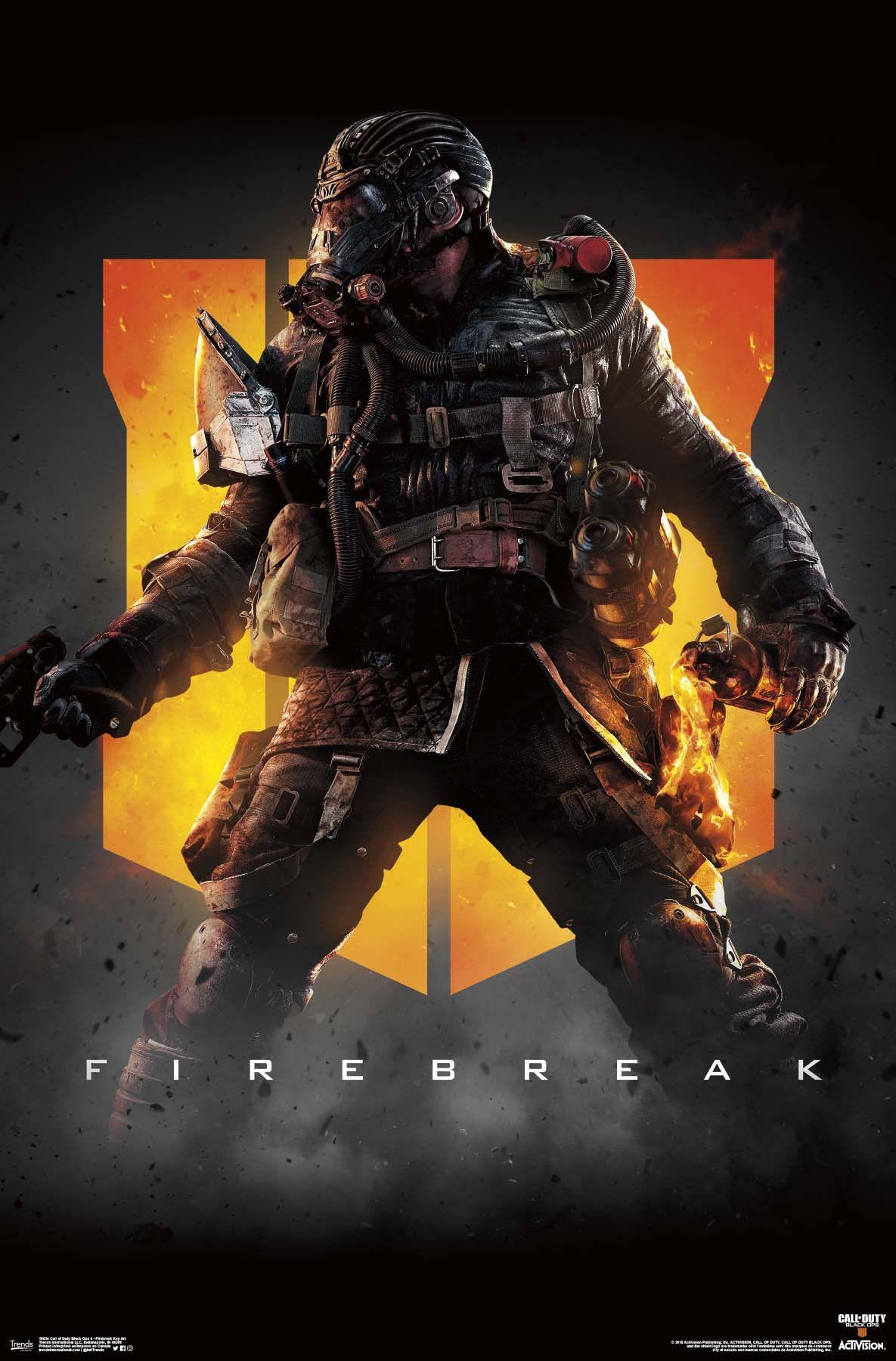 Call Of Duty Black Ops 4 Firebreak Key Art Poster And Poster Clip Bundle Walmart Com Call Of Duty Poster Prints Call Of Duty Black