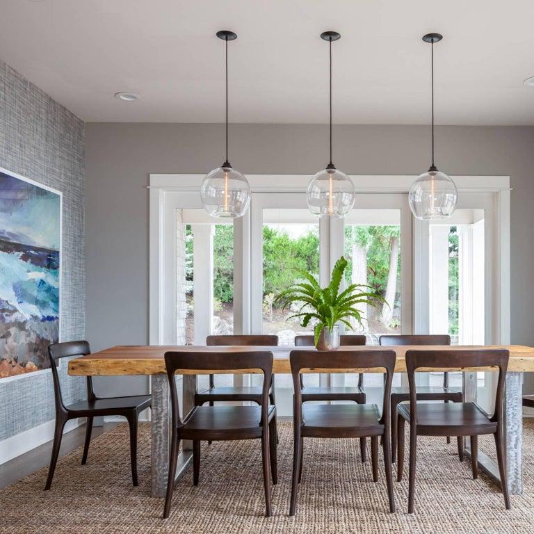 Modern Glass Pendant Light, Glass Dining Room Light Fixtures