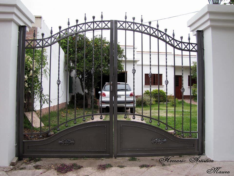 Portones De Hierro Iron Gates Rejas De Hierro Iron Fence Rejas Para Frente Railings For Front Puerta De Hierro Outdoor Decor Paint Colors Outdoor