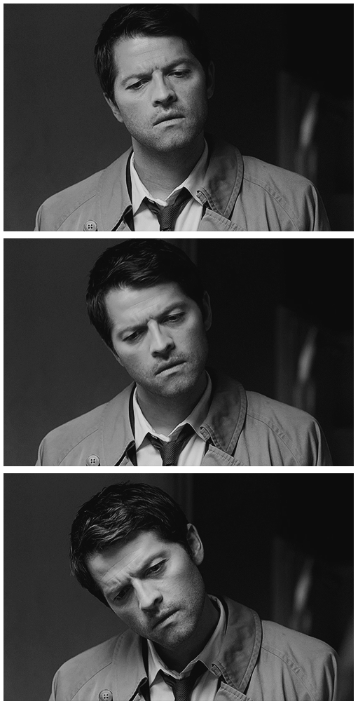 """The Castiel Head Tilt"" - ahhh I noticed this too, reminds me of the Spike head tilt, I love it!!"