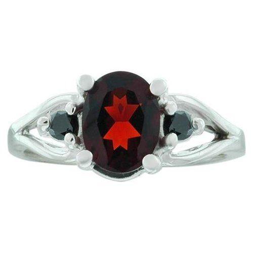 1.61 Ct Madaira Citrine Black Diamond 14KW Gold Ring