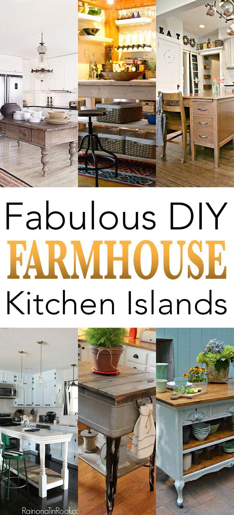 Fabulous diy farmhouse kitchen islands the cottage market