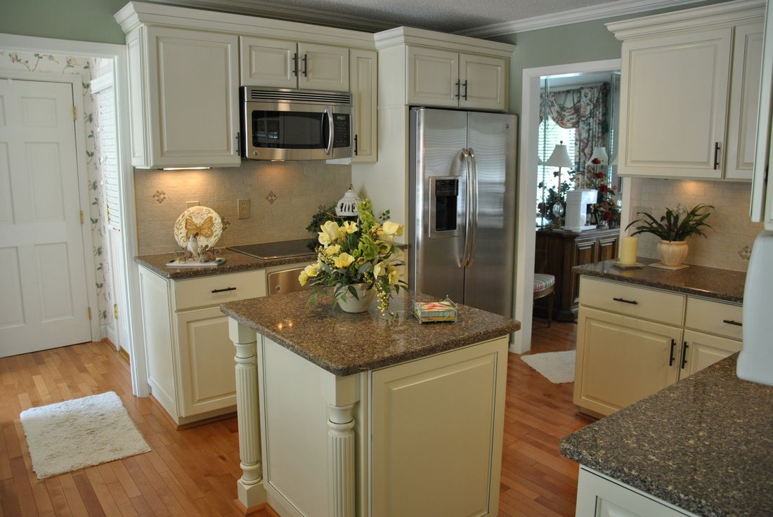 Buttercream Kitchen Cabinets Wood Floors Kitchen Kitchen Cabinets Home