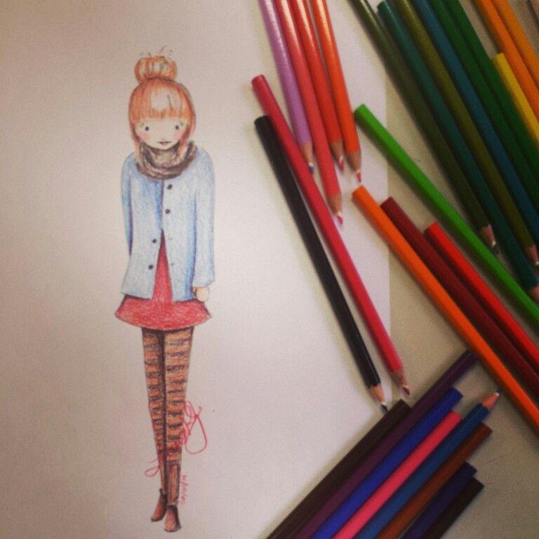lápis de cor - Lou Raulik