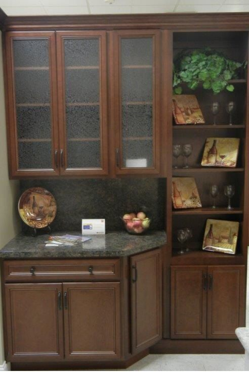Westridge Cabinets In A Classic 5 Door Style Maple Wood And A Cordovan With  Chocolate Line