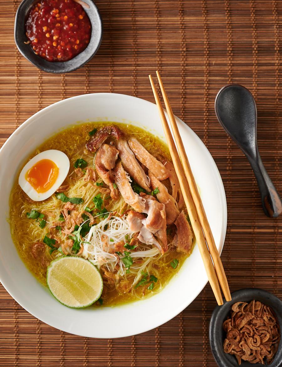 Resep Kuah Soto : resep, Indonesian, Chicken, Noodle, Resep, Masakan,, Makanan,, Makanan