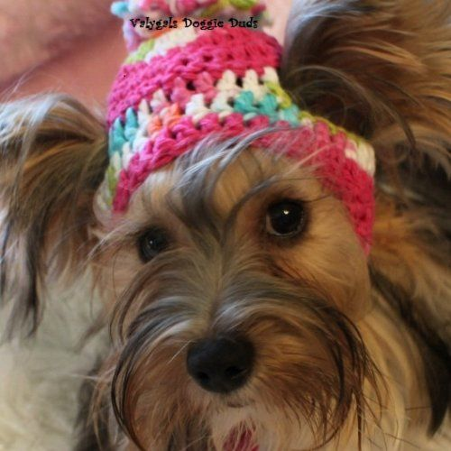 95eef89e32b Crocheted+Dog+Toboggan+Hat+-+Sz+SM