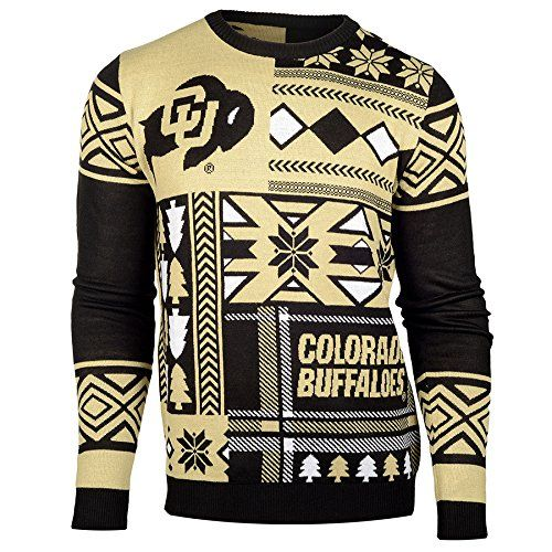 huge selection of fdc02 357fe NCAA College 2015 Patches Ugly Crew Neck Holiday Sweater ...