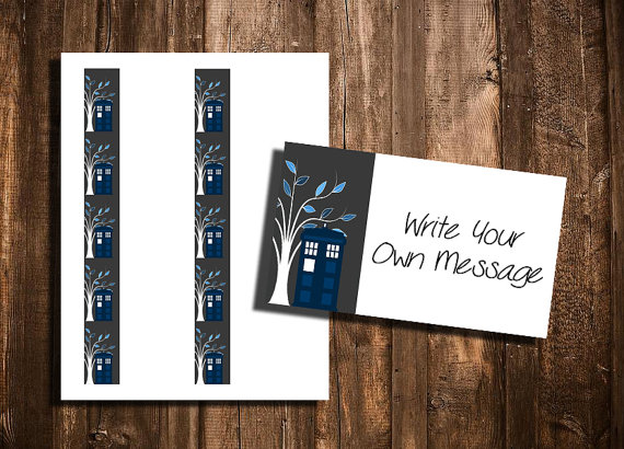 Doctor who themed cards use as business card place setting or instant multi use cards for your whovian needs these cards are standard business card standard business card sizegift tags reheart Choice Image