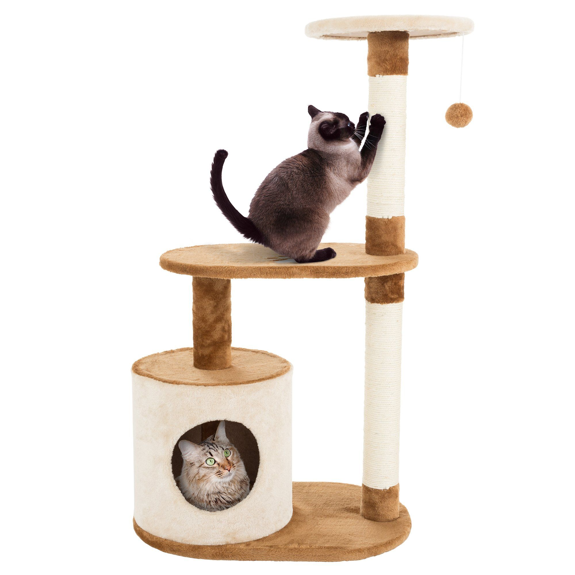 PETMAKER 3 Level Cat Tree Condo with Scratching Posts in