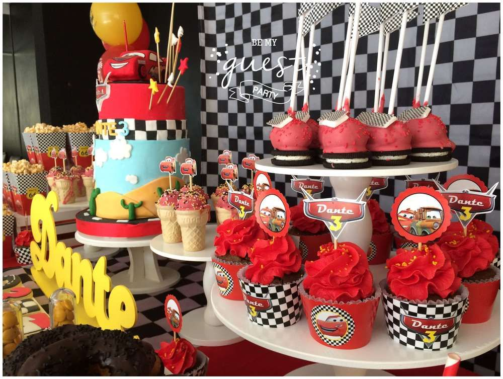 Check Out The Cool Cupcakes At This Fantastic Cars Disney Movie Birthday Party See More Ideas And Share Yours CatchMyParty