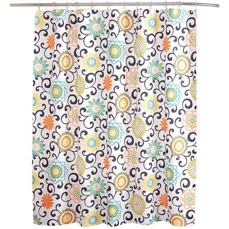 Waverly Pom Collection Shower Curtain Multicolor