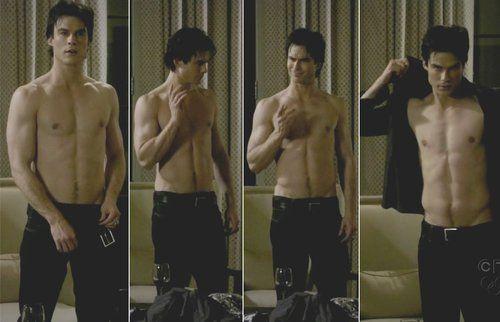 The Vampire Diaries Shirtless And Sexy Damon Salvatore Ian
