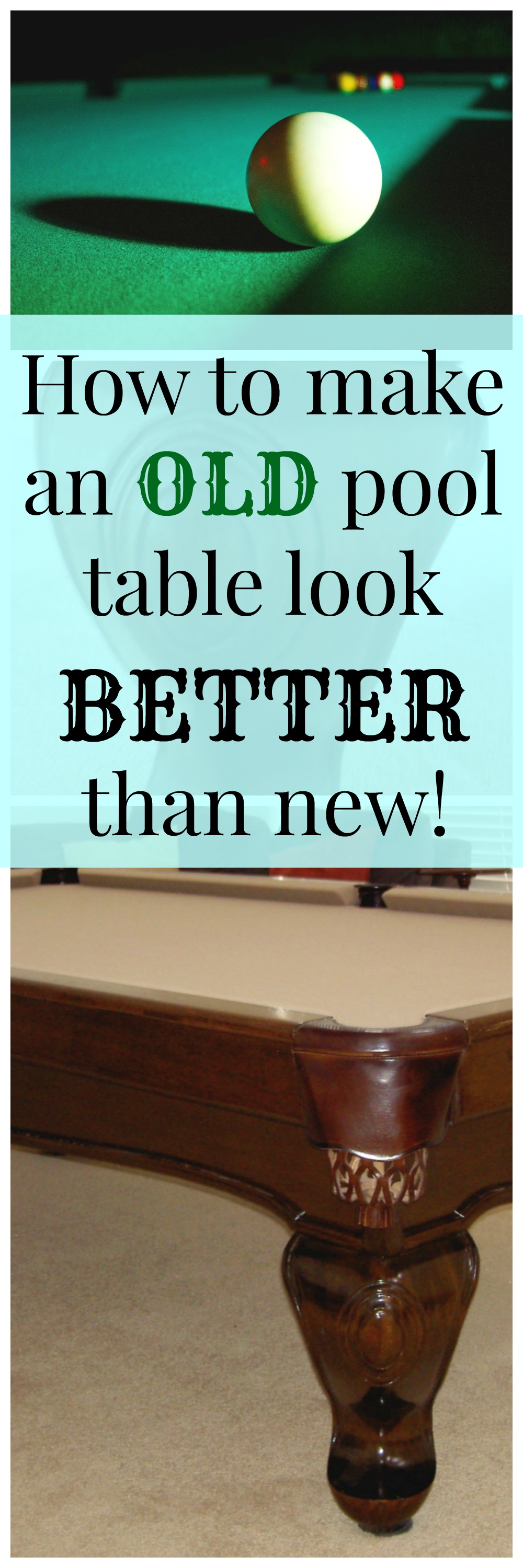 DIY Pool Table. How To Refinish, Stain And Re Felt A Pool Table