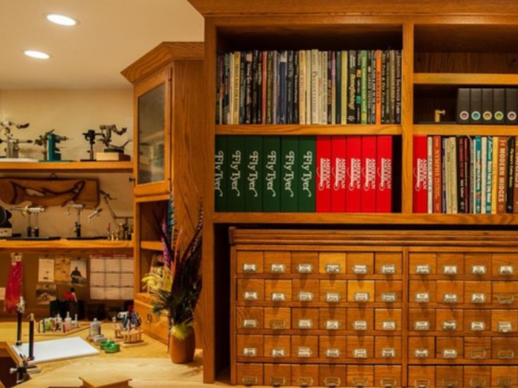 Ultimate Fly Tying Room Fishing Room Kitchen Design Companies Fly Tying Desk