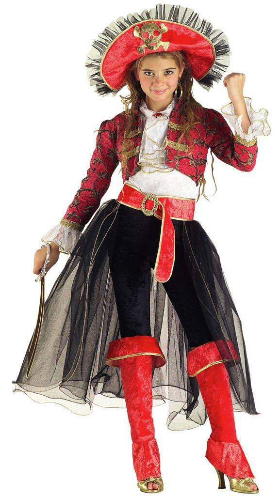 Déguisement corsaire enfant fille - Costume Lady Corsaire 12/14 ans | Costume de pirate ...