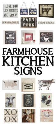 farmhouse kitchen signs