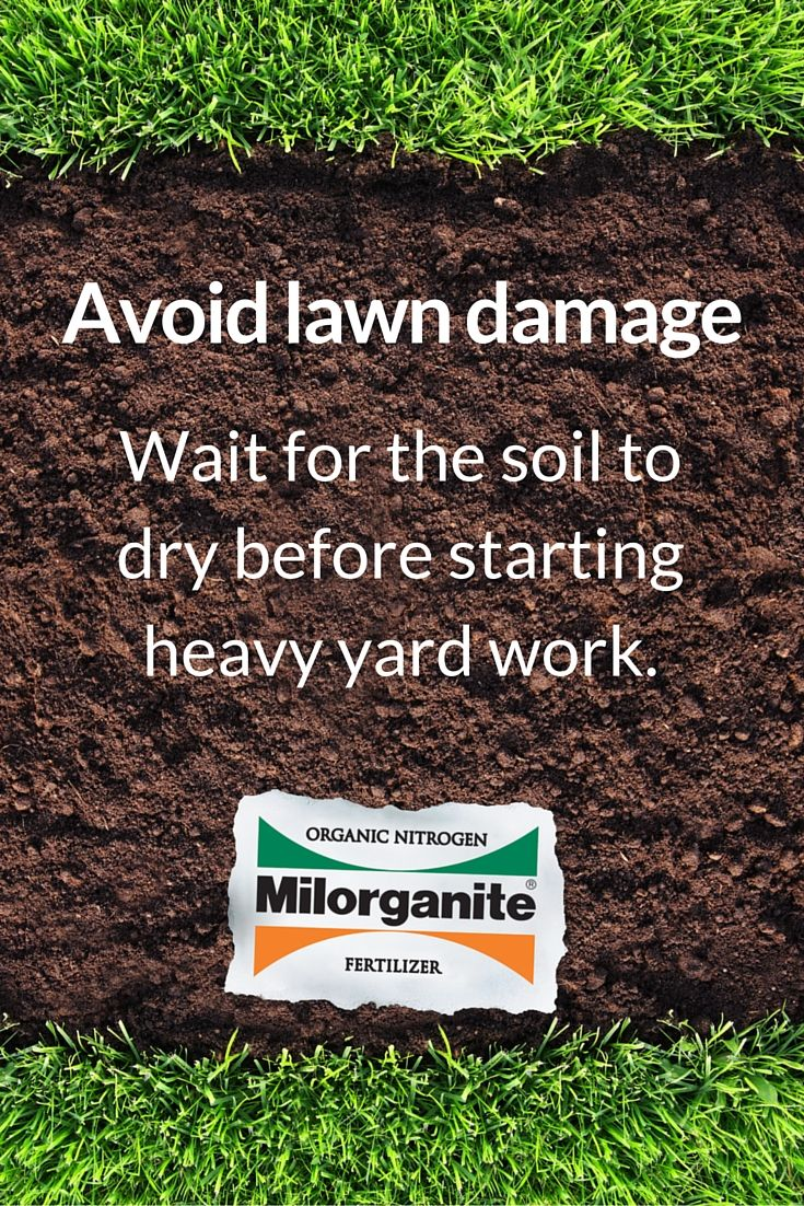 Avoid Heavy Yard Work In The Spring Until The Soil Dries Out