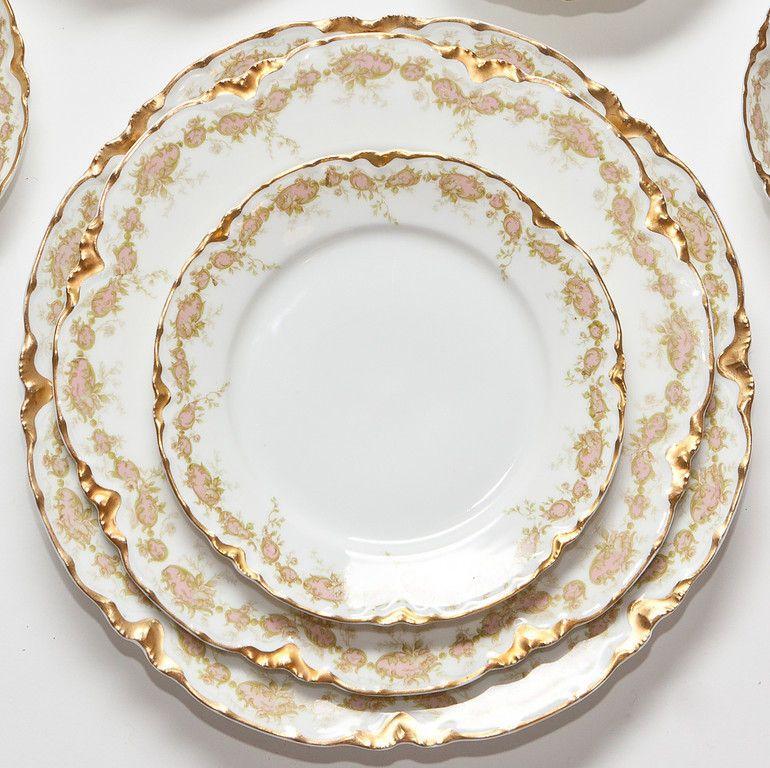 Vintage French Haviland Limoges Dinner Set | 1stdibs.com  sc 1 st  Pinterest & Vintage French Haviland Limoges Dinner Set | Modern dinner plates ...