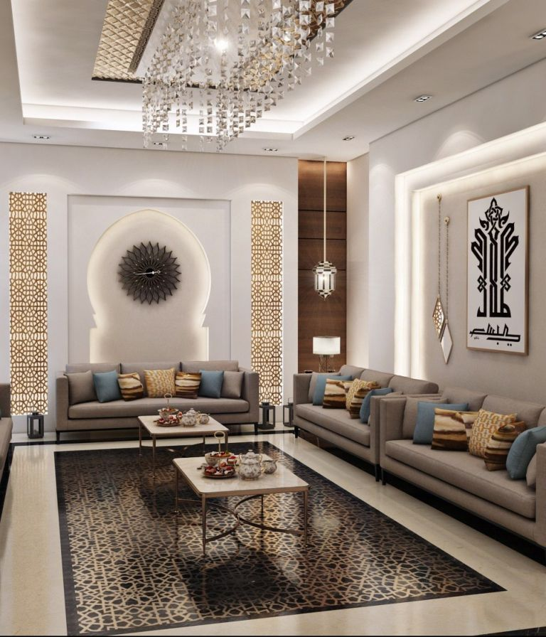 Influences Of Moroccan Style Luxury House Interior Design Luxury Living Room Design Living Room Design Modern