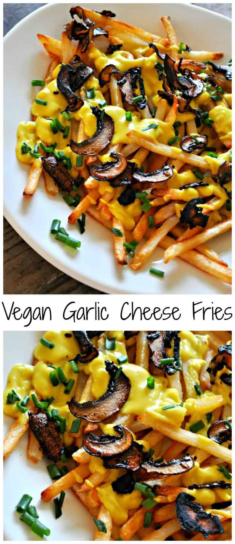 Vegan Garlic Cheese Fries Rabbit And Wolves Recipe Cheese Fries Recipes Vegan Condiments
