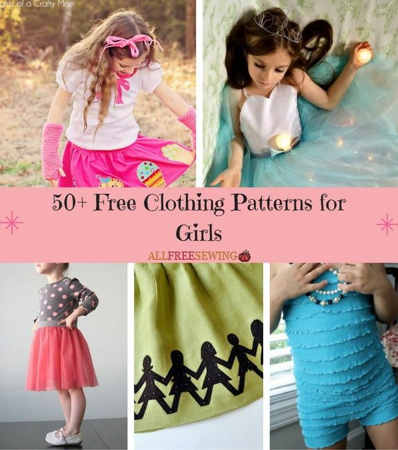 6456d66249c 50+ Free Clothing Sewing Patterns for Girls
