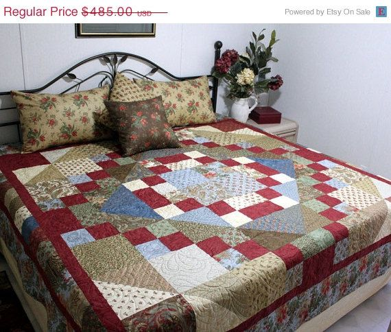 Bed Quilt Sale Portobello Market Handmade Queen Bed By Quiltlover