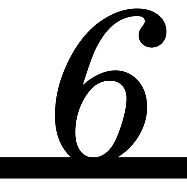Number 6 Italic Underline Liked On Polyvore Featuring Numbers