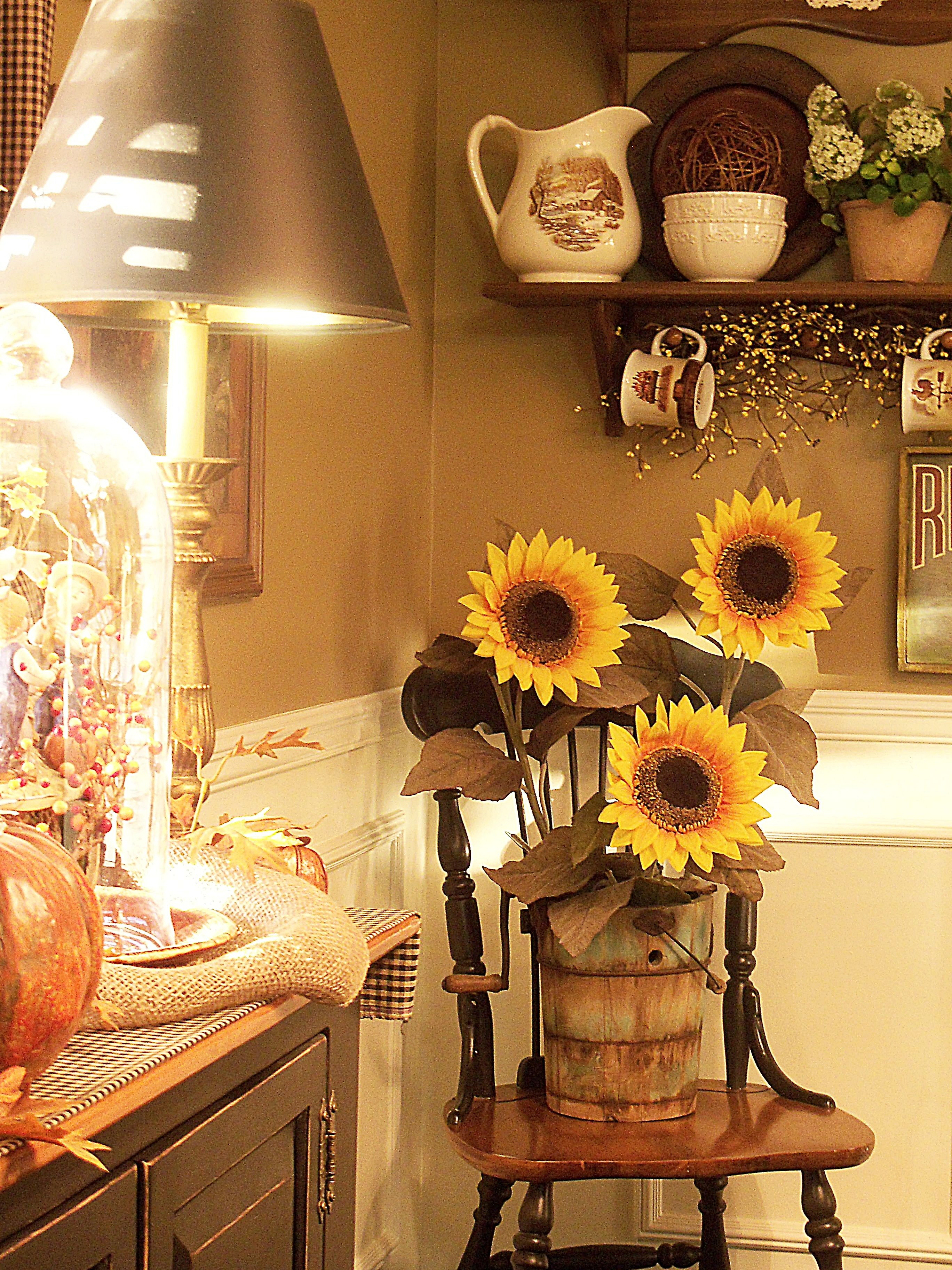 Early Morning In The Kitchen Sunflower Kitchen Decor Sunflower