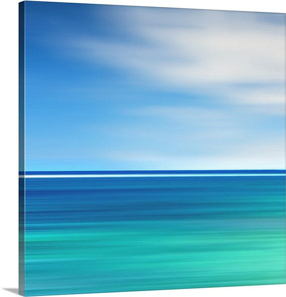 6276730662c Beach Canvas Wall Art Abstract Ocean Photography Teal by klgphoto ...