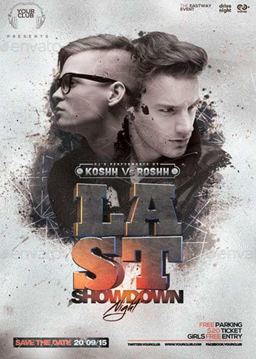 Showdown Night PSD Flyer Template ffflyershowdown – Showdown Flyer Template