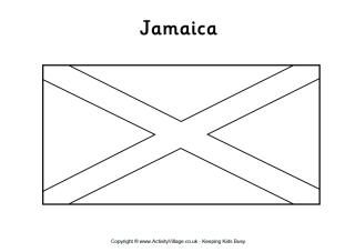 Jamaica Flag Printables Jamaica Flag Flag Coloring Pages