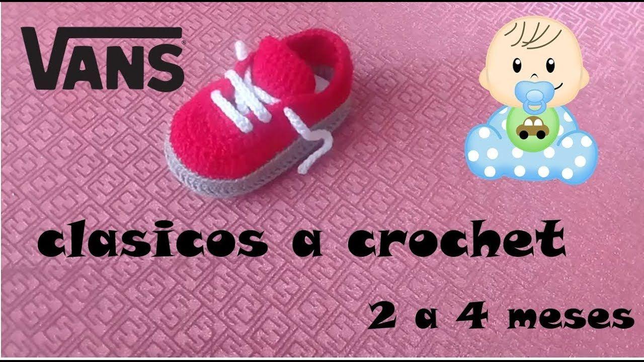 vans clasicos tejidos a crochet - YouTube | cat crochet applique ...