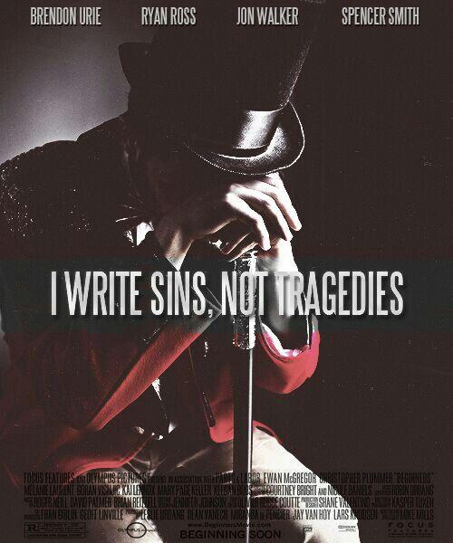 I write a sins not tragedies unplugged