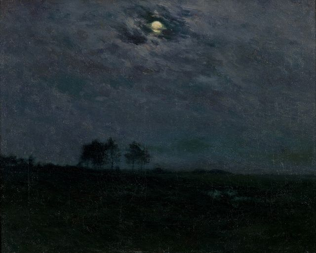 """A Summer Night,"" Charles Harold Davis, ca. 1910, oil on canvas, 21 × 25"", Montclair Art Museum."