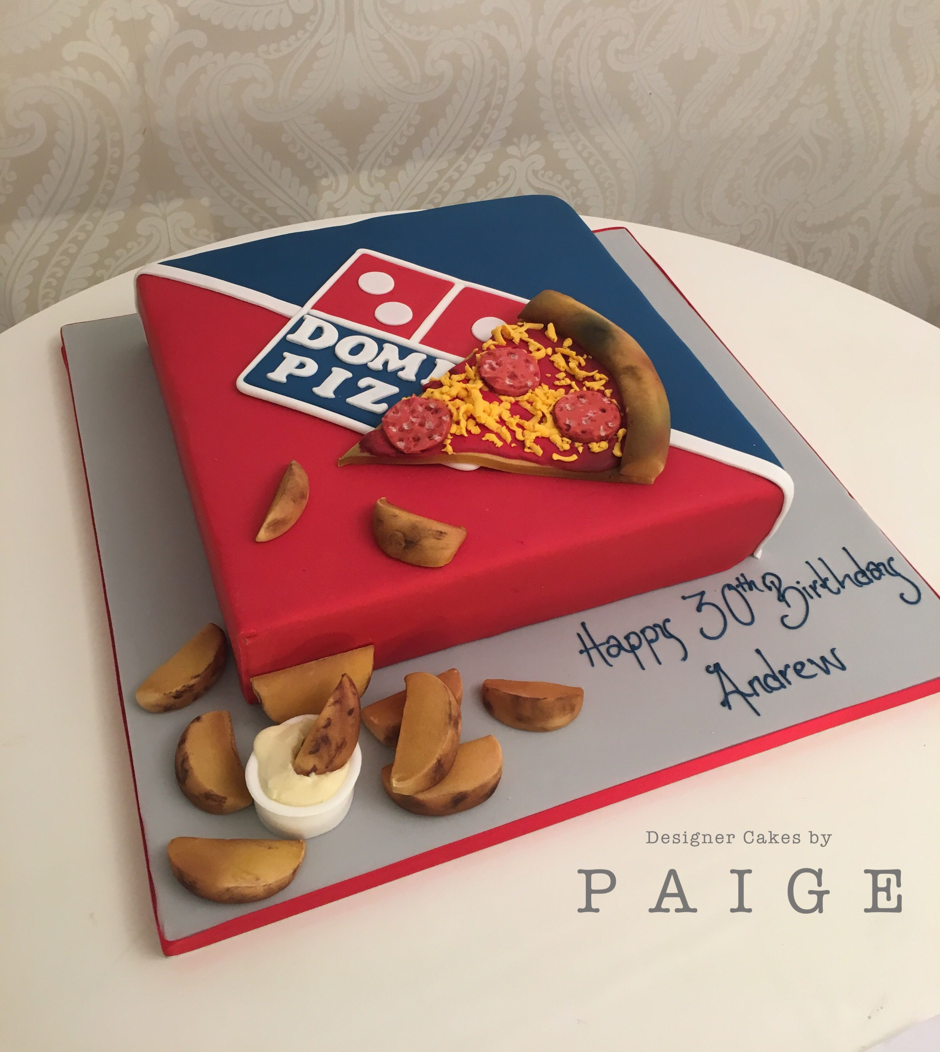 Dominos pizza and pizza box cake cake designs pizza