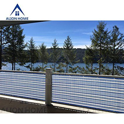 Alion Home Mediterranean Style Privacy Screen Mesh Windscreen For Backyard  Deck Patio Balcony Pool Porch Railing