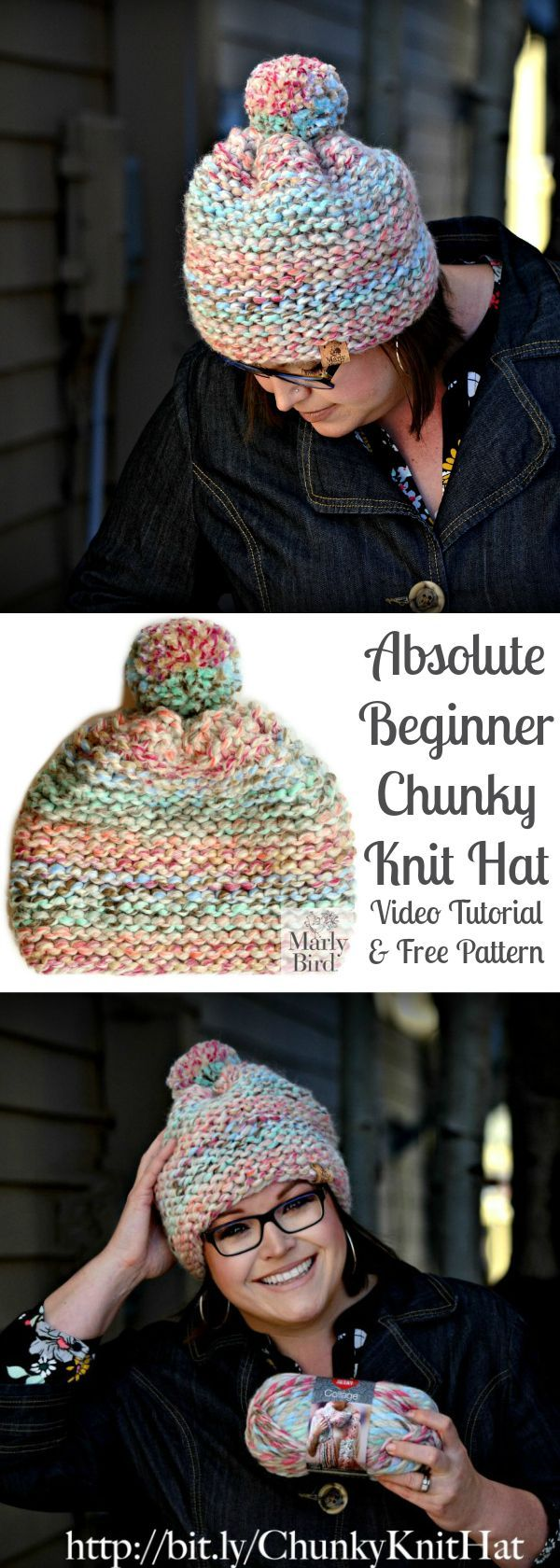 Absolute Beginner Chunky Knit Hat (With images) | Chunky ...