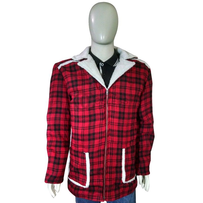 Here is the Deadpool Shearling Detailed Red Shearling coat jacket ...