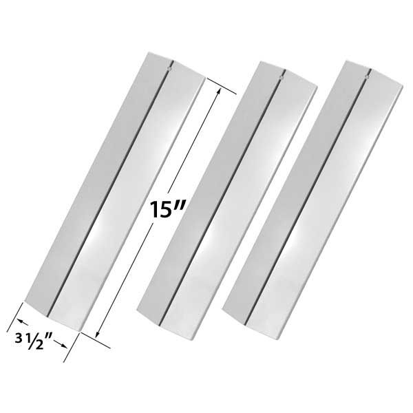 3 PACK REPLACEMENT STAINLESS STEEL HEAT SHIELD FOR AMANA