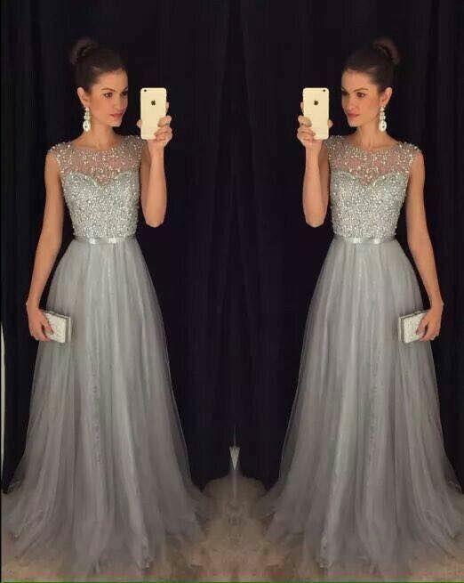 5872a37817 Hermosos vestidos largos para fiestas de noche