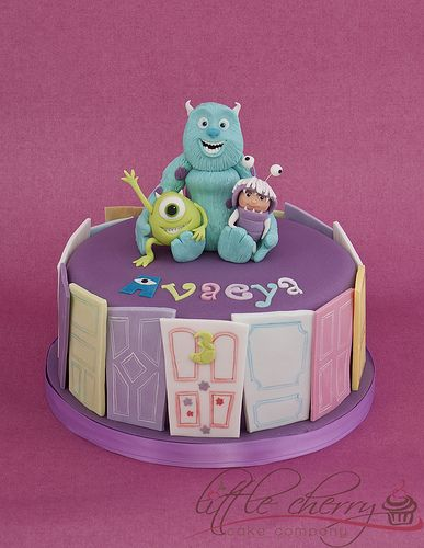 Monsters Inc Cake  Monsters Cake and Single layer cakes