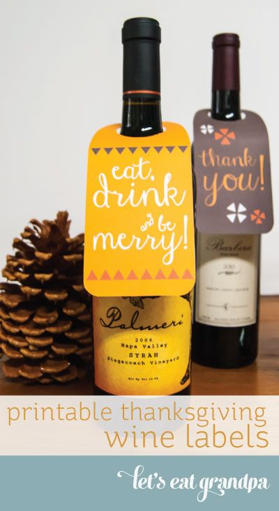 Free Printable Wine Labels for Thanksgiving and Christmas from - free wine bottle label templates