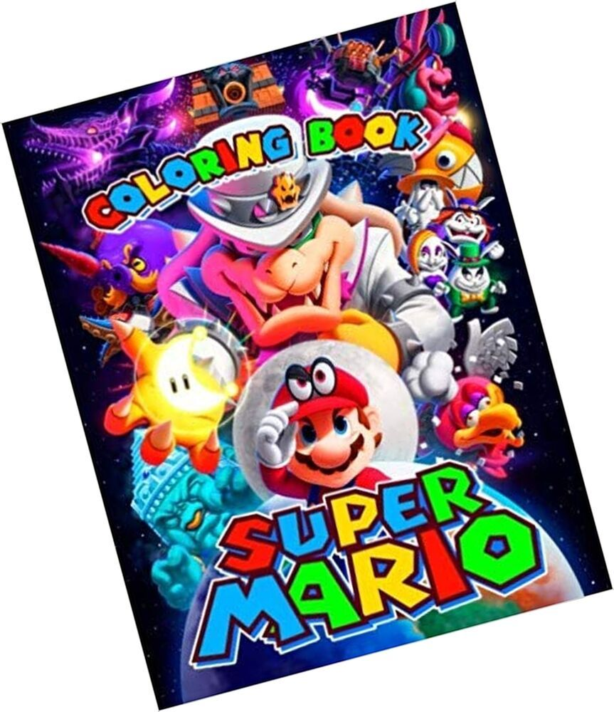 Super Mario Coloring Book Great Activity Book For Kids And Any Fan Of Super 6 01end Date Apr 02 12 38buy Coloring Books Book Activities Mario And Luigi