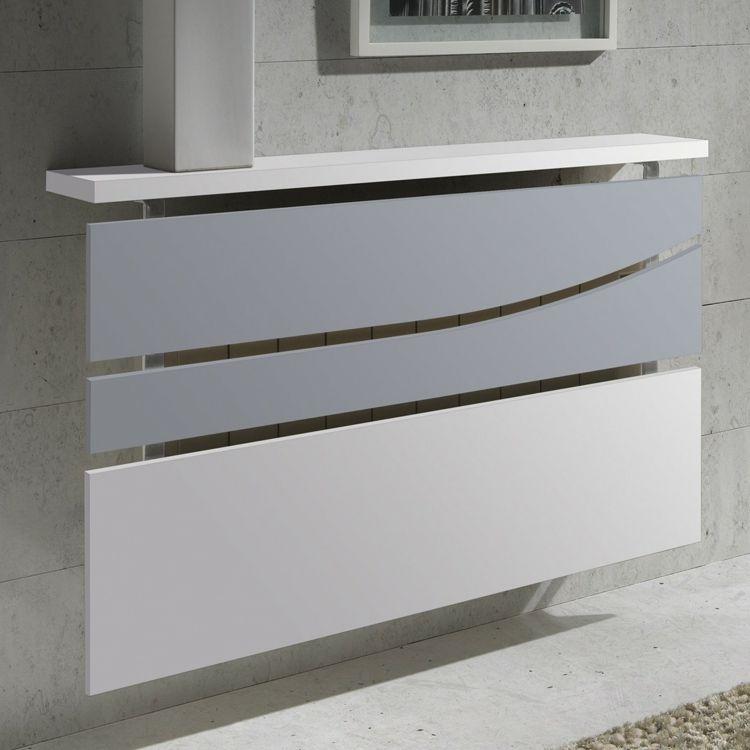 cache radiateur design en m tal blanc et verre d poli projet pinterest cache radiateur. Black Bedroom Furniture Sets. Home Design Ideas