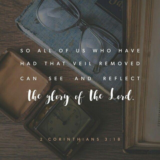 Así, todos nosotros, que con el rostro descubierto reflejamos como en un espejo la gloria del Señor, somos transformados a su semejanza con más y más gloria por la acción del Señor, que es el Espíritu. 2 Corintios 3:18 NVI http://bible.com/128/2co.3.18.NVI