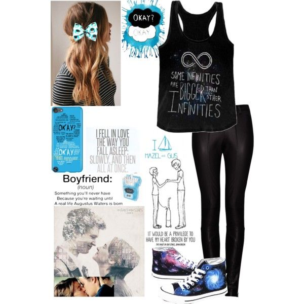 The Fault In Our Stars (TFIOS) by uniquely-yourself on Polyvore featuring Kalda, Converse, tfios and TheFeels