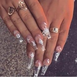 nails  art  girl  polish  cute  makeup  clear