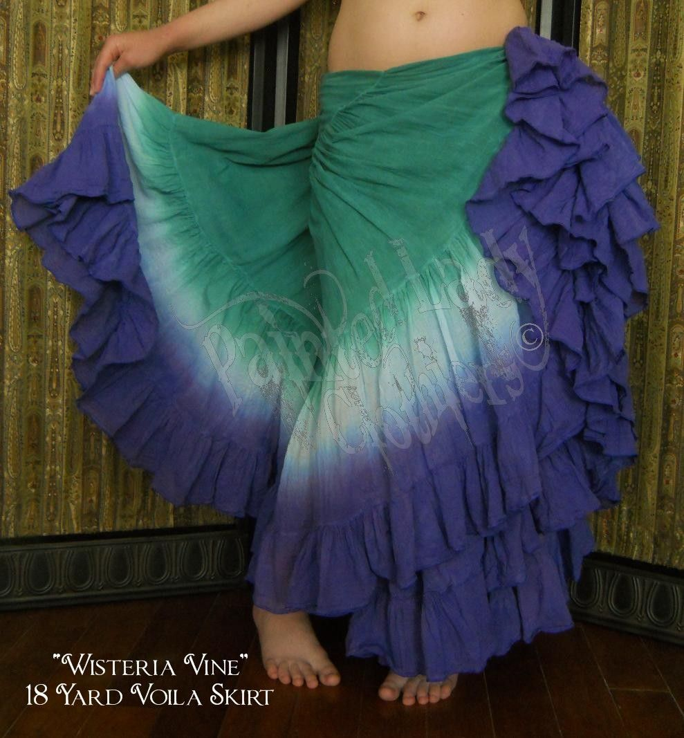 """Wisteria Vine"" 18 Yard Voila Skirt  You can order yours here:  http://www.paintedladyemporium.com/Shop-Here.html"